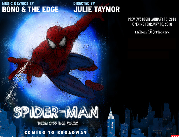 Spider-Man Turn Off the Dark Broadway poster