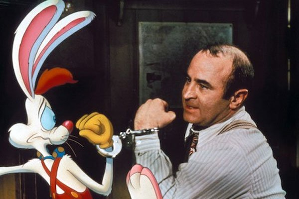 Roger Rabbit und Bob Hoskins