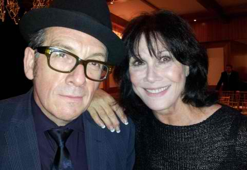 elvis costello, michele lee c2012 showbiz411
