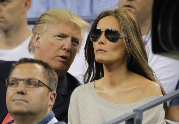 donald and melania, us open