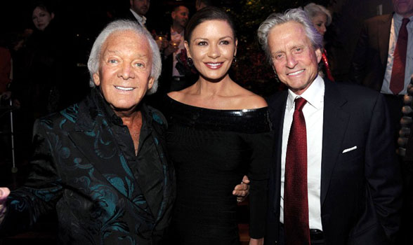 marty richards with catherine zeta jones and michael douglas