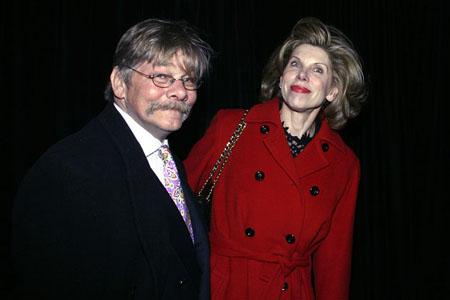 Christine Baranski and husband