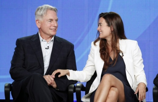 Photo of Cote de Pablo & his friend  Mark Harmon