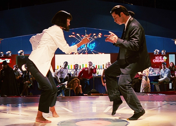 Image result for pulp fiction uma and john