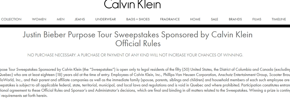 Justin bieber meet and greets still being offered as calvin klein jbsweepstakes 2016 04 11125403 m4hsunfo