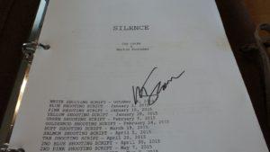silence screenplay