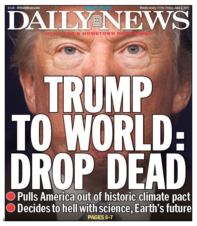 trump daily news cover